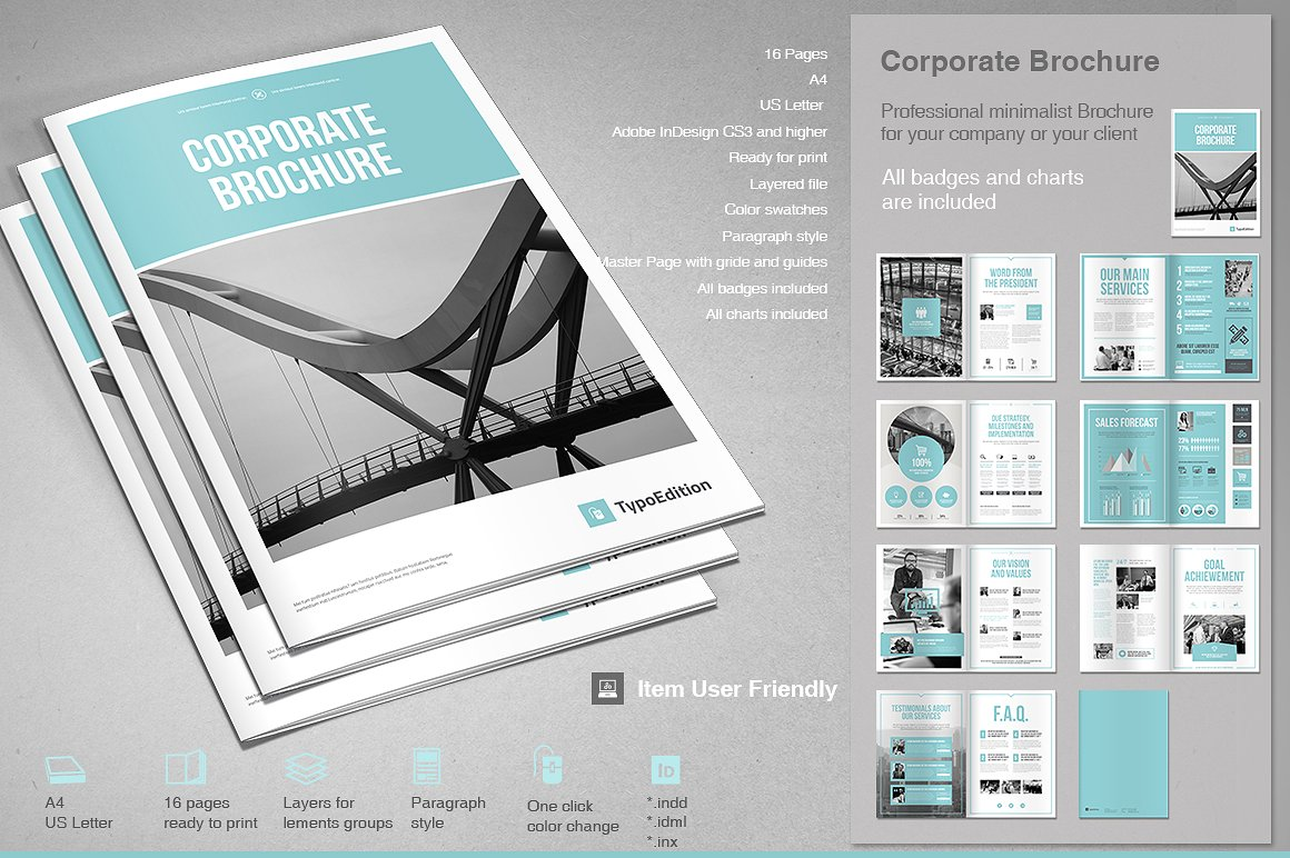 corporate brochure or newsletter design